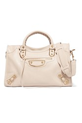 Balenciaga Classic City Textured Leather Tote Beige