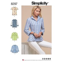 Simplicity Women's Shirt And Blouse Sewing Pattern 8297