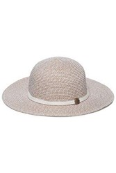 Melissa Odabash Colette Leather Trimmed Straw Sunhat Taupe