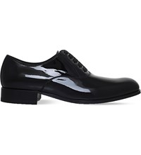 Tom Ford Edgar Evening Patent Leather Oxford Shoes Black