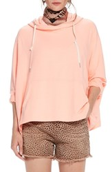 Scotch And Soda Boxy Fit Hoodie Color 2015 Coral