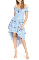 Stylekeepers Women's The Blissful Moments Fishtail Dress Striped Blue