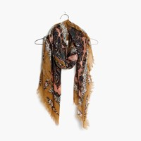 Madewell Concentric Paisley Square Scarf Amber Honey Multi