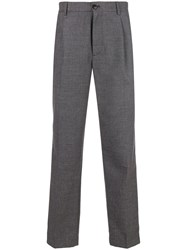 Closed Straight Tailored Trousers Grey