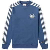 Adidas Consortium Spezial By Union La Crew Sweat Blue