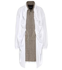 Y Project Layered Houndstooth Coat Beige