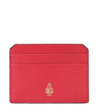 Mark Cross Leather Card Holder Red
