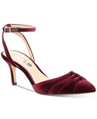 Inc International Concepts Women's Leala Pumps Created For Macy's Women's Shoes Burgundy