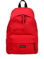 Balenciaga Nylon Backpack Red
