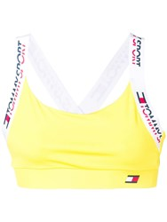 Tommy Hilfiger Sports Cropped Top Yellow