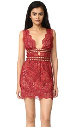 For Love And Lemons Mon Cheri Mini Dress Rouge