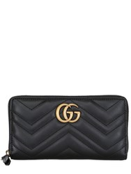 Gucci Gg Marmont 2.0 Leather Zip Around Wallet