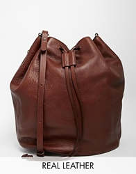 Whistles Leather Bucket Bag In Tan Brown