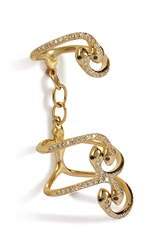 Ileana Makri Yellow Gold Snake Parade Ring With Diamonds