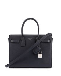 Saint Laurent Sac De Jour Leather Baby Carryall Bag Marine