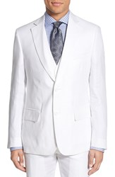Men's Nordstrom Men's Shop Classic Fit Linen Blazer White