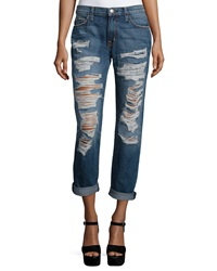 Current Elliott The Fling Relaxed Fit Rolled Cuff Jeans Westward Destroy
