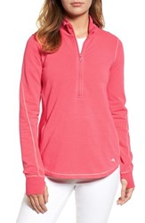 Tommy Bahama 'S Jen And Terry Half Zip Top Classic Pink Crystal Rose