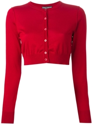 Dolce And Gabbana Cropped Cardigan Red