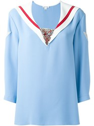 Marc Jacobs 'Cady Sailor' Blouse Blue