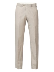 Aston And Gunn Alameda Stone Linen Blend Tailored Fit Trouser Stone
