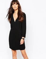 Just Female Office Playsuit With Wrap Black