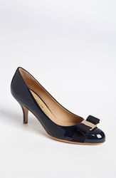 Women's Salvatore Ferragamo 'Carla' Pump Oxford Blue Patent