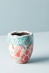Anthropologie Bismark Garden Mini Pot Red
