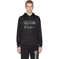 Moschino Black And Silver Couture Hoodie