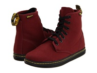 Dr. Martens Shoreditch Cherry Red Canvas Women's Lace Up Boots Mahogany