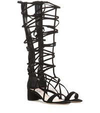 Miu Miu Suede Gladiator Sandals Black