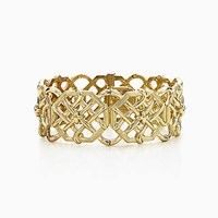 Tiffany And Co. Schlumberger Bamboo Weave Bracelet In 18K Gold. 18K Yellow Gold
