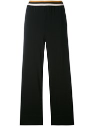 Jucca Straight Cropped Trousers Women Cotton Spandex Elastane Viscose 44 Black
