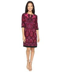 Christin Michaels Ingram Dress Magenta Black Women's Dress Purple