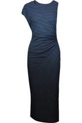 Kain Label Penny Ruched Ombre Stretch Jersey Midi Dress Storm Blue