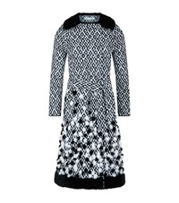 Oscar De La Renta Diamond Jacquard Coat Female Black