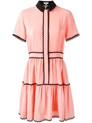 Kenzo A Line Shirt Dress Pink Purple