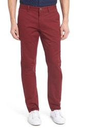 Bonobos Slim Fit Washed Stretch Cotton Chinos Red