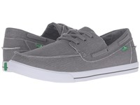 Sanuk The Sea Man Charcoal Washed Men's Lace Up Casual Shoes Gray