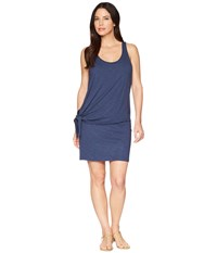 Lilla P Double Layer Tie Dress Ink Navy