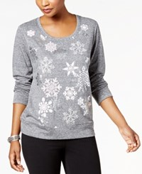 Style And Co Snowflake Embellished Sweatshirt Created For Macy's Snowfall