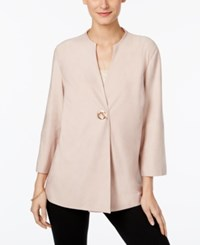 Jm Collection Toggle Button Blazer Only At Macy's Silver Pink
