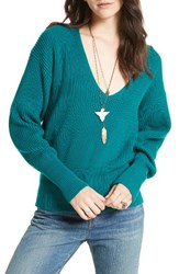Free People Women's Allure Pullover Turquoise