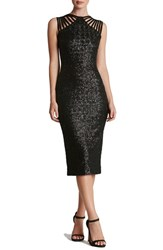 Dress The Population Women's Sequin Midi Matte Black