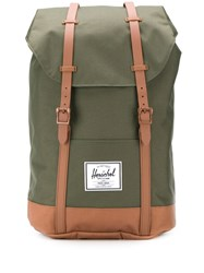 Herschel Supply Co. Retreat Contrasting Strap Backpack Green