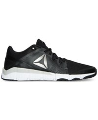 Reebok Men's Trainflex Training Sneakers From Finish Line Black White Pewter Grey