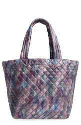 M Z Wallace Mz 'Medium Metro' Quilted Oxford Nylon Tote Blue Cloud