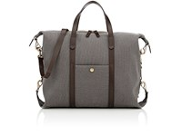 Mismo Men's Leather Trimmed Tote Bag Grey