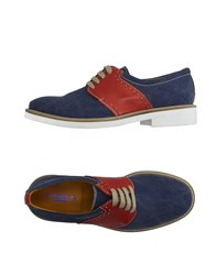 Thompson Footwear Lace Up Shoes Men Blue
