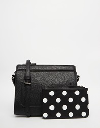 Pieces Front Pocket Crossbody Bag With Pouch Black